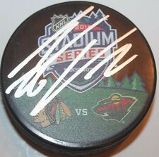 THOMAS VANEK SIGNED MINNESOTA WILD STADIUM SERIES PUCK W/ CASE COA