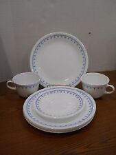 10 PCS CORELLE DINNERWARE SNOWFLAKE LUNCHEON SAUCER PLATES AND MUGS