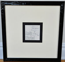ANDY WARHOL~ORIG. FRAMED SIGNED SOUP CAN DRAWING ~ WITH PSA LOA/COA