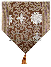 Chinese Home Decor: Chinese Silk Table Runner - Wealth Flowers