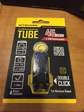 NITECORE TUBE USB RECHARGEABLE KEYCHAIN KEY RING LED FLASHLIGHT 45 LUMENS BLACK