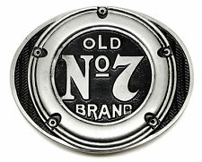 Jack Daniel`s Belt Buckle Old No.7 Brand Gas Fuel Cap Design Officially Licensed