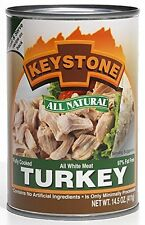 14.5 Ounce Keystone Natural Fully Cooked Canned Meat Camping Food Cooking Turkey