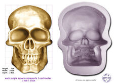 SKULL MEDIUM Craft Sugarcraft Sculpey Soap Silicone Rubber Mould
