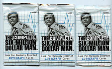 Six (6) Million Dollar Man Rittenhouse Archives 3X Card Packs New from 2004 Z3