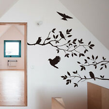 Birds And Tree Wall Stickers Decals Removable Art Mural Room Home Nursery Decor