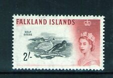 Falkland Islands QEII  2/- SG205 1960 Black and brown-red   Lightly hinged
