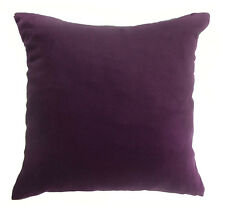Mg+8 Plain Color Soft Faux Micro Suede Fabric Cushion/Pillow Cover Custom Size