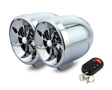 2x Mini Reproductor Altavoces MP3 Radio FM para Moto/Coche 12V plateado