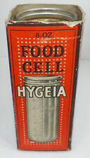 RARE 1916 HYGEIA 8 OZ FOOD CELL BABY BOTTLE WITH ORIGINAL BOX