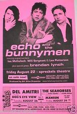 Echo And The Bunnymen 1997 San Diego Concert Tour Poster - New Wave Music