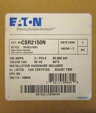 EATON CUTLER HAMMER CSR2150N 2 Pole 150 Amp Type CH CSR Breaker