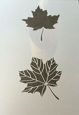 Maple Leaf Mylar Reusable Stencil Airbrush Painting Art Craft DIY home
