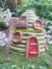 NEW DESIGN RUBBER LATEX MOULD MOLD MOULDS BEEHIVE FAIRY FAIRIE HOUSE COTTAGE