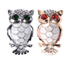 New Fashion Rhinestone Crystal Owl Brooch Pin Jewelry Wedding Gift Gold/Silver