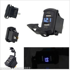Professional Waterproof Car Marine Boat 12V Voltmeter With Dual USB Port Charger