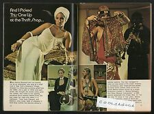 1973 TV GUIDE ARTICLE~BARBRA STREISAND'S THRIFT STORE BUY'S~GREENWICH VILLIAGE