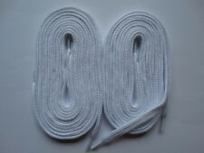 2 Pairs Laces thick flat 140cm white - For canvas trainer skater converse