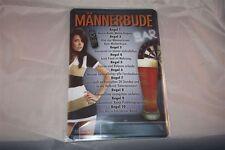 Männerbude 10 Regeln Blechschild 20x30 cm Funschild Partykeller Dart Billard