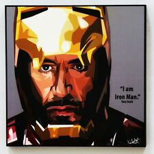 Tony Stark Iron Man canvas quotes wall decals photo painting pop art poster