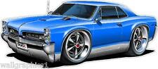 1966 1967 Pontiac GTO 389 400 Cartoon Car Wall Graphic Decal Stickers Boys Room