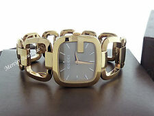 NEW Gucci G-Gucci Medium Yellow Gold PVD Swiss Quartz Women's Watch YA125408