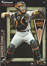 BUSTER POSEY FATHEAD TRADEABLES SAN FRANCISCO GIANTS REMOVABLE STICKER 2012 #73