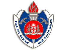 4x4 inch NSW Fire Rescue Badge Sticker - decal firefighter crest New South Wales