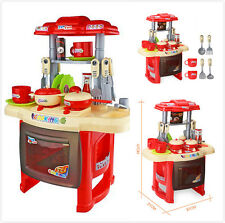 37x21x40cm Children Kids Kitchen Cooking Play Pretend Toy Set +Vivid Sound Light