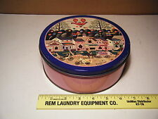 """VINTAGE 1991 OLIVE TIN """"CONFECTION STREET"""" BY CHARLES WYSOCKI HOT PINK LADIES 7"""""""