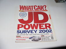 WHAT CAR ?   MAGAZINE  JUNE    2002    ENGLISH MONTHLY