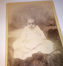 Antique Victorian Young Child! ID'd Archie Lee Sisco! Richford, VT Cabinet Photo