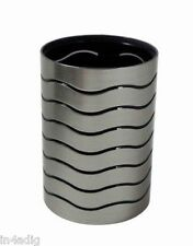 Blue Canyon Bathroom Modern Look Tumbler Silver and Black