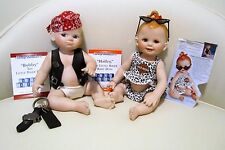 Franklin Mint Bobby & Hailey The Little Biker Baby Harley-Davidson Baby Dolls