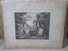 Vintage Print,GARDEN SCENE MR RICH,Hogarth,1807