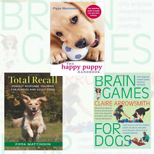 Puppy Care Collection 3 Books Set Brain Games For Dogs,Happy Puppy Handbook