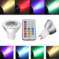 10X GU10 16 Color Changing RGB LED Spot Light Bulb Remote Control Home Lighting