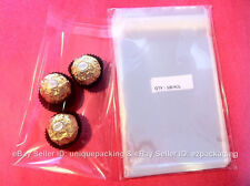 100 5x7 Clear Resealable Bakery Candy Cookie Poly Cello Cellophane Bags
