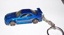 CUSTOM MADE..NISSAN SKYLINE GT-R R34 (MET BLUE)..KEYCHAIN..GREAT GIFT!