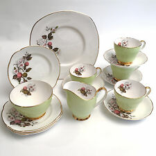 15 PC Argyle Fine Bone China Tea / Luncheon / Dessert Set For 4 Made in England