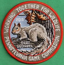"""Pa Pennsylvania Pennsylvania Game Commission NEW 4"""" WTFW 2013 Squirrel Patch"""