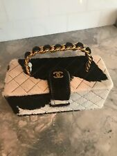 CHANEL VINTAGE QUILTED VANITY BOX BAG HANDBAG