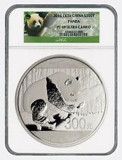 2016 China 300 Yuan 1 Kilo Proof Silver Panda NGC PF69 UC (Panda Label) SKU42196
