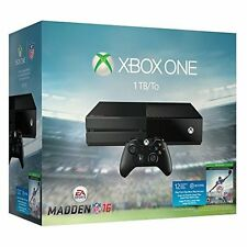 Xbox One 1TB Console EA Sports Madden NFL 16 Bundle Very Good Portable System 4Z