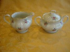 "VINTAGE PORCELAIN ""CAROLINA"" CREAMER & SUGAR w/LID ROYAL IMPORTS POLAND"