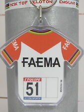 Eddy Merckx 1969 Faema Team Tour De France Cotton Cycling Jersey Keyring Rapha