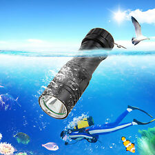 5000Lm CREE XM-L U2 LED Scuba Diving Waterproof Flashlight Torch 18650/26650