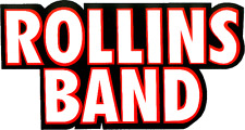 8025 Rollins Band Bold Logo Henry Post Hardcore Punk Huge Large Sticker / Decal