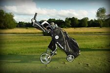 Alphard Duo Deluxe Push/Pull Cart That Collapse To A Riding Cart Bag (Black)