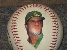 Jose Canseco Oakland A's Fotoball Baseball w Stats